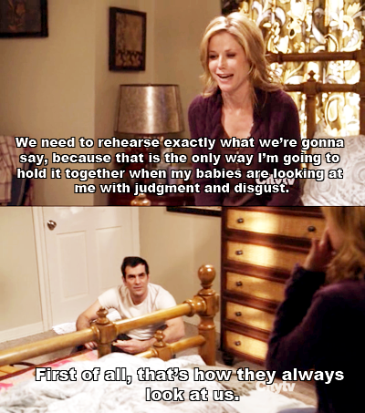 Caught In The Act P Modern Family Funny Modern Family Quotes Modern Family Memes