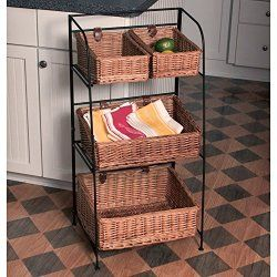 Fruit Basket Stand 3 Tier Best Buy Online Kitchen Storage Kitchen Storage Solutions Floor Baskets