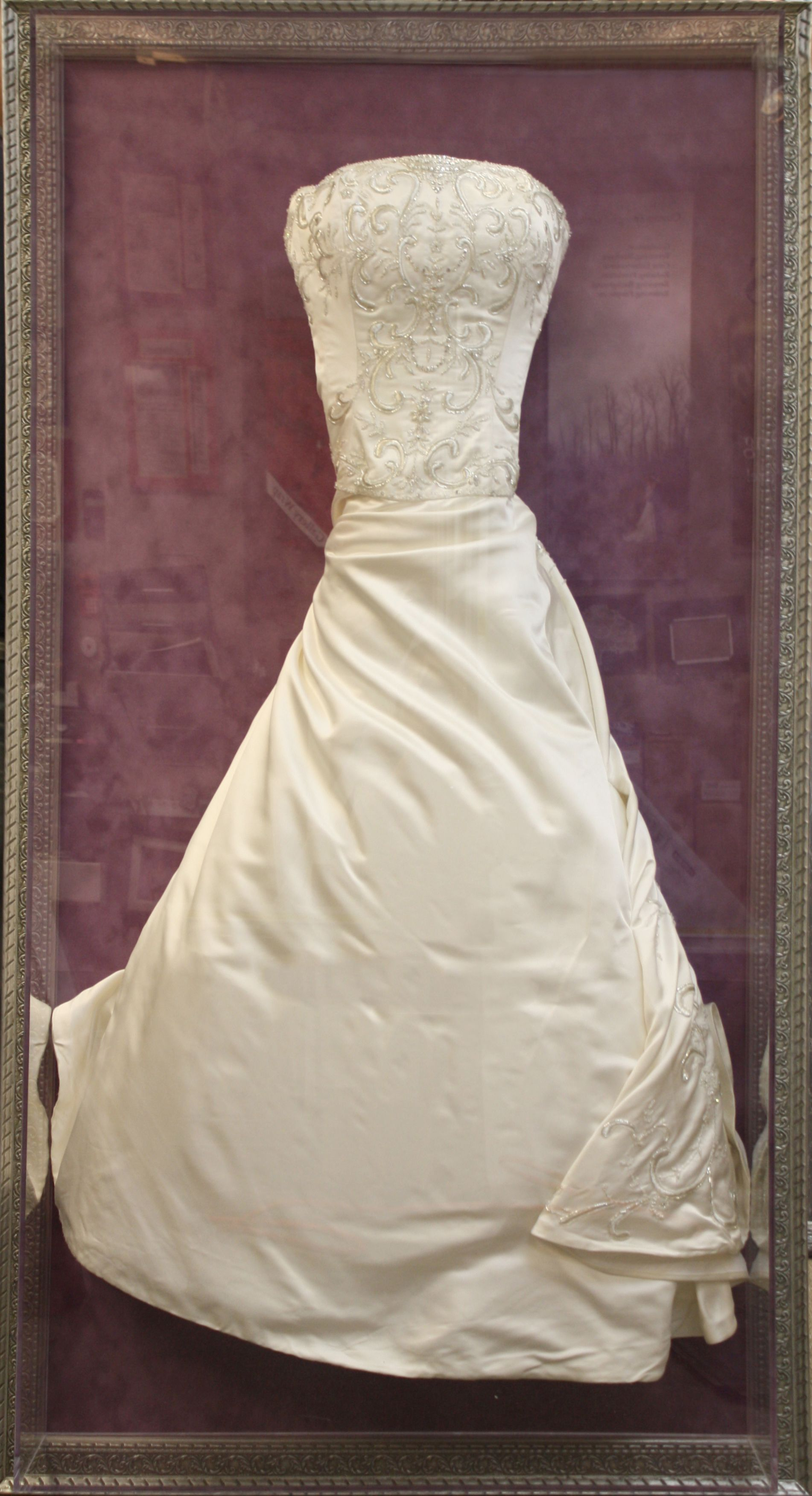 preserve your wedding dress in a custom shadowbox frame amazing way to showcase your gown