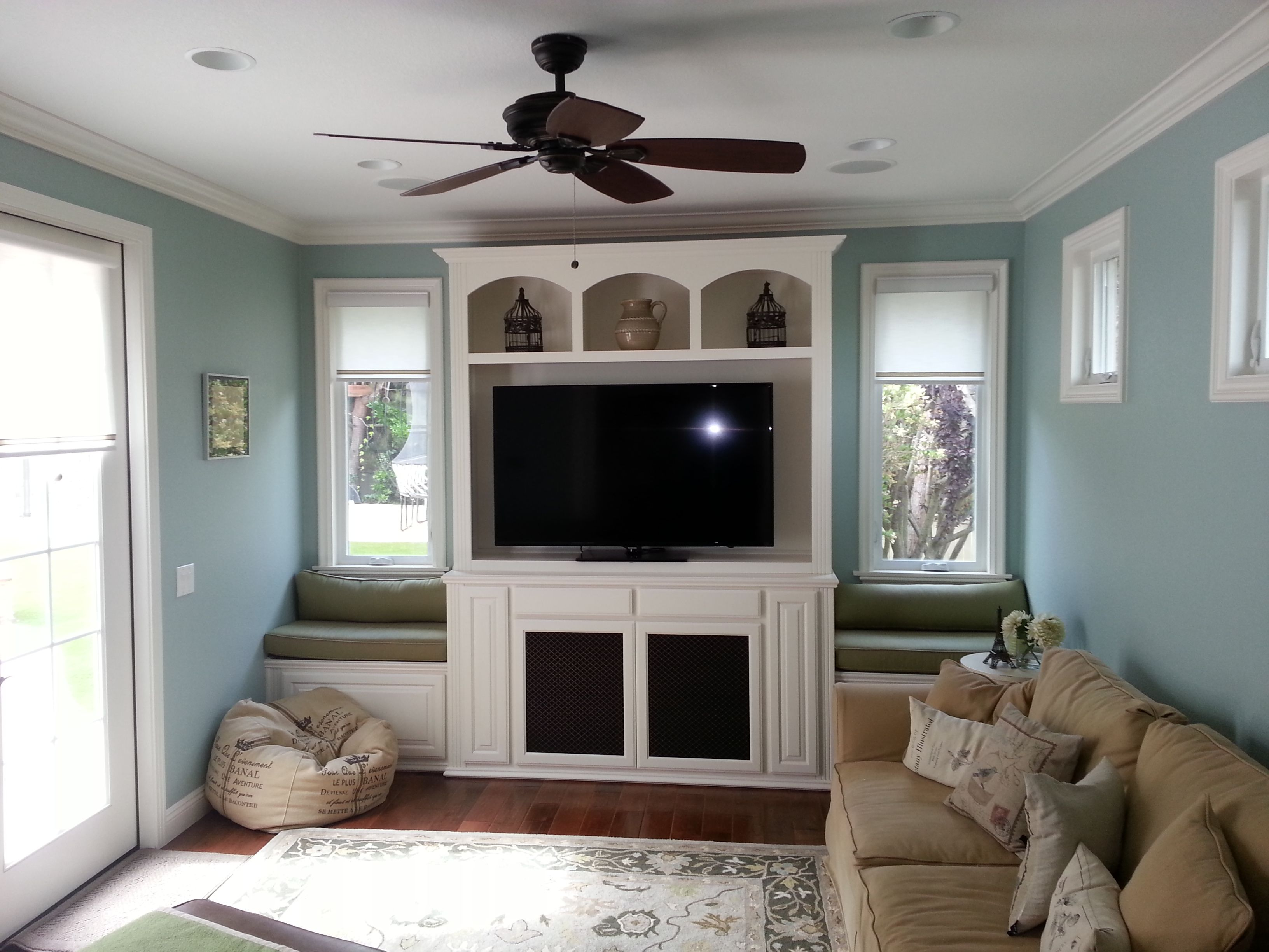 Tremendous Custom Built In Wall Unit With Window Benches Squirreltailoven Fun Painted Chair Ideas Images Squirreltailovenorg