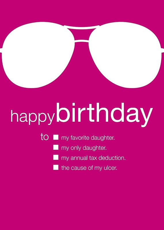 Funny birthday card to daughter by udecideproducts on etsy 395 funny birthday card to daughter bookmarktalkfo Images