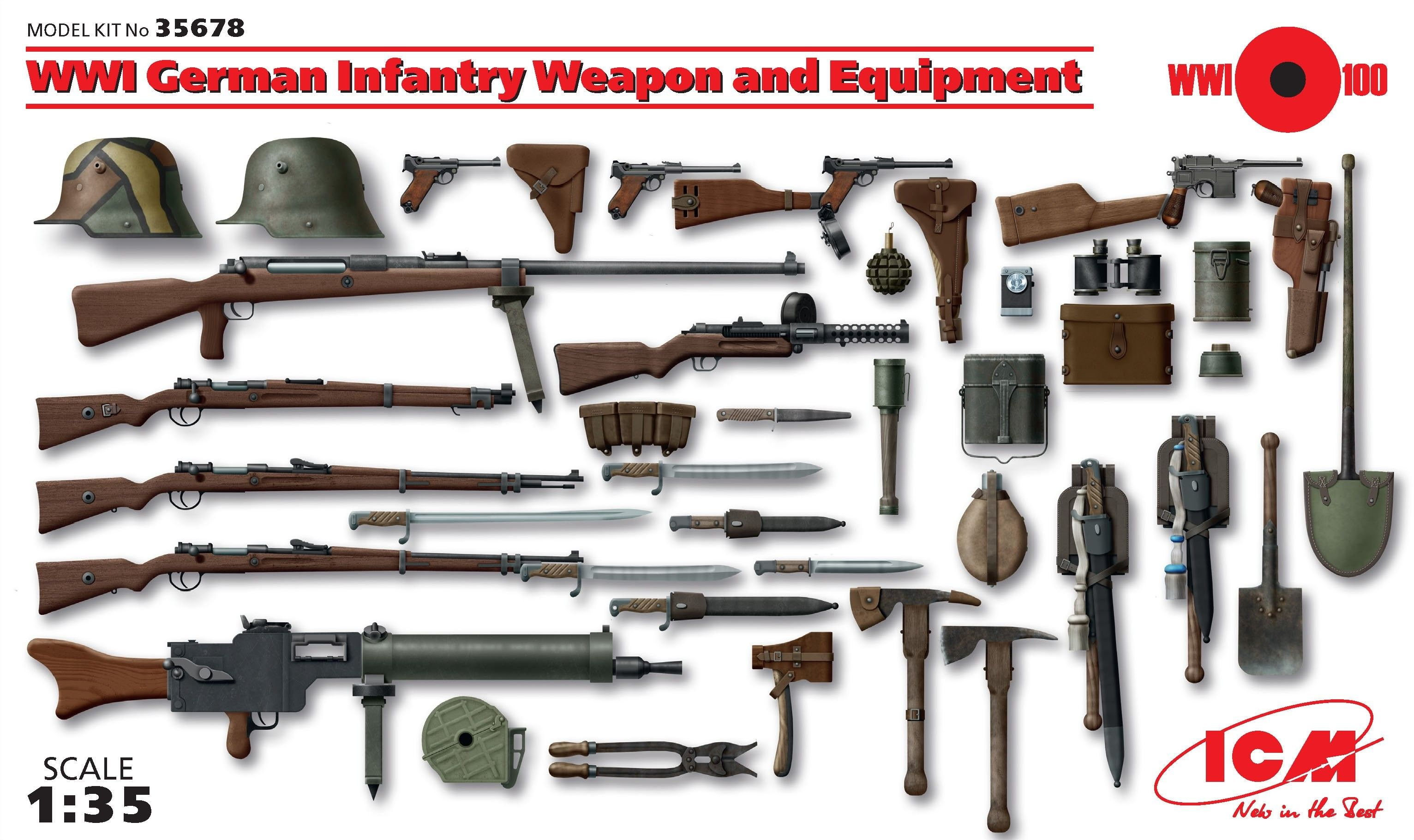 1:35 WWI German Infantry Weapon and Equipment - Figures ...
