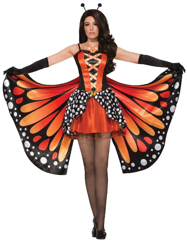 Ladies Monarch Butterfly + Wings Dance Troop Fancy Dress