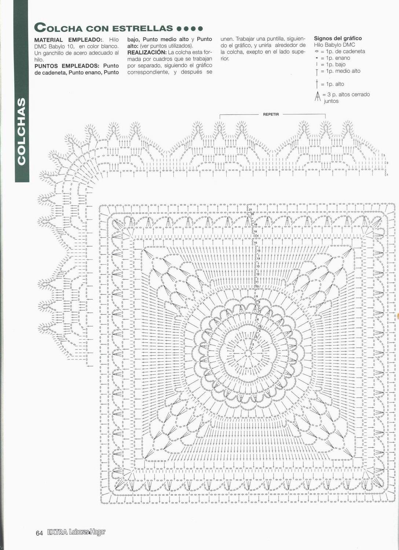TEJIDOS CROCHET: colcha estrella | cojines patrones | Pinterest ...
