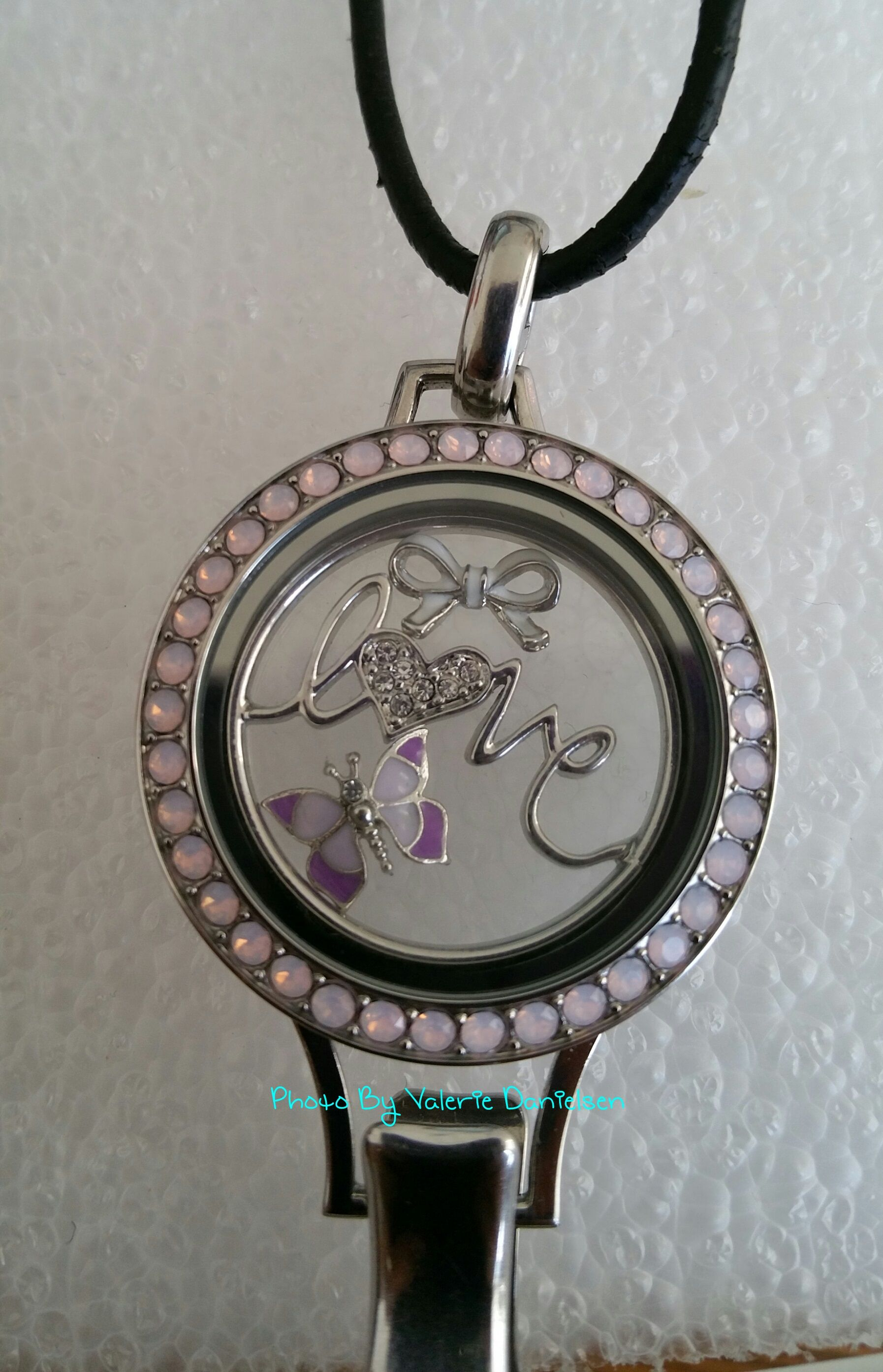 large studio silhouette charm locket lockets papier sterling necklace products silver classic le