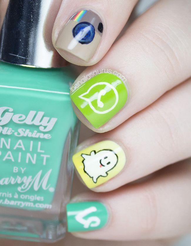 Social Media Apps Nail Art Social Media Pinterest Uk Nails