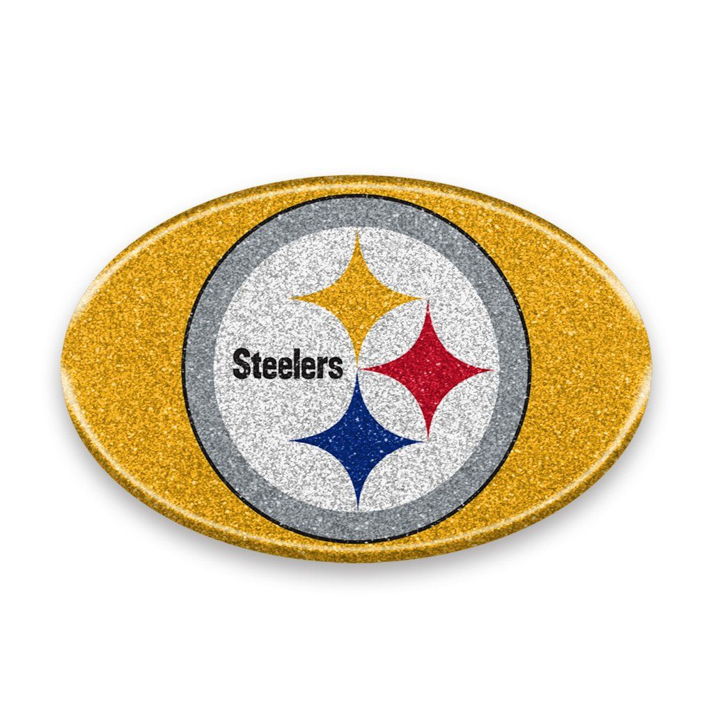Pittsburgh Steelers Auto Emblem Oval Color Bling Style