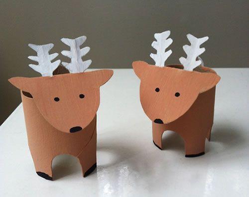 Manualidad 15 manualidades de navidad con rollos de papel - Manualidades de navidad con papel ...