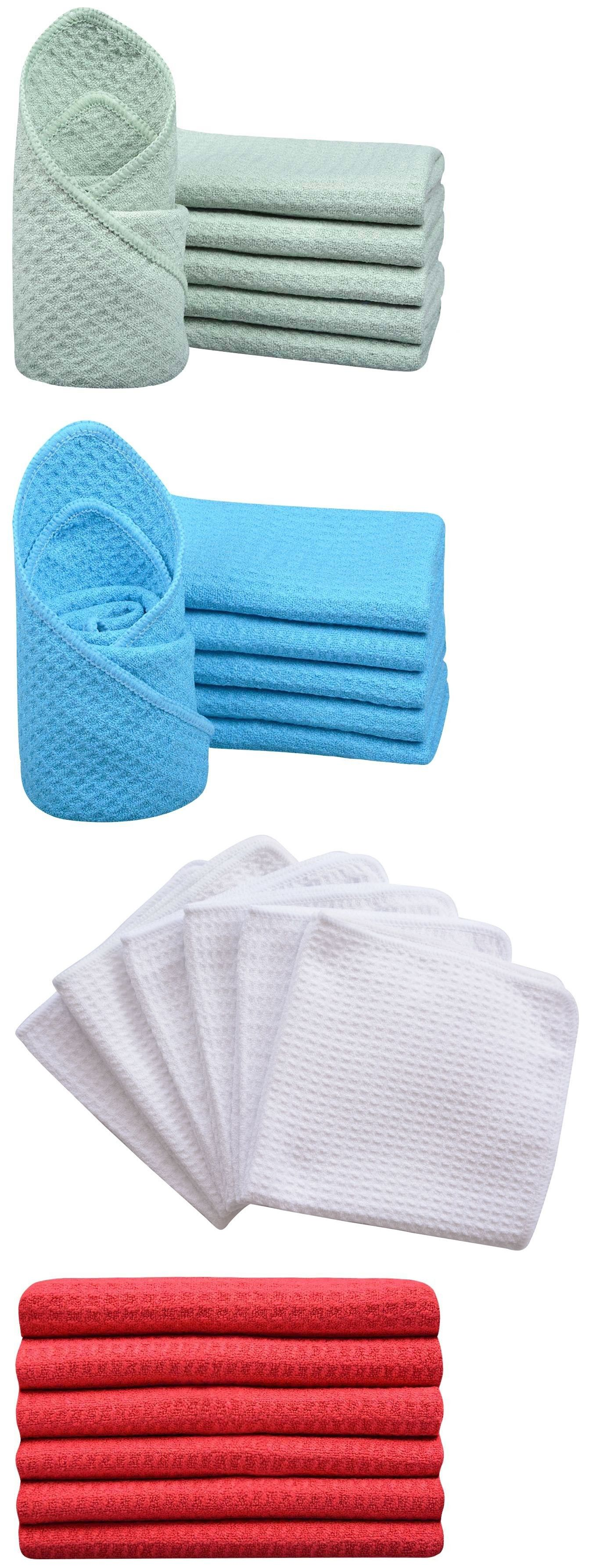 Cleaning Towels And Cloths 29509 Microfiber Waffle Weave Kitchen