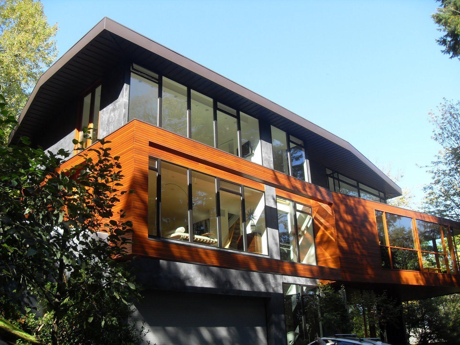 Cullen S House Bois Pierre Grise Volumes Baies Vitrées Architecture Future House House