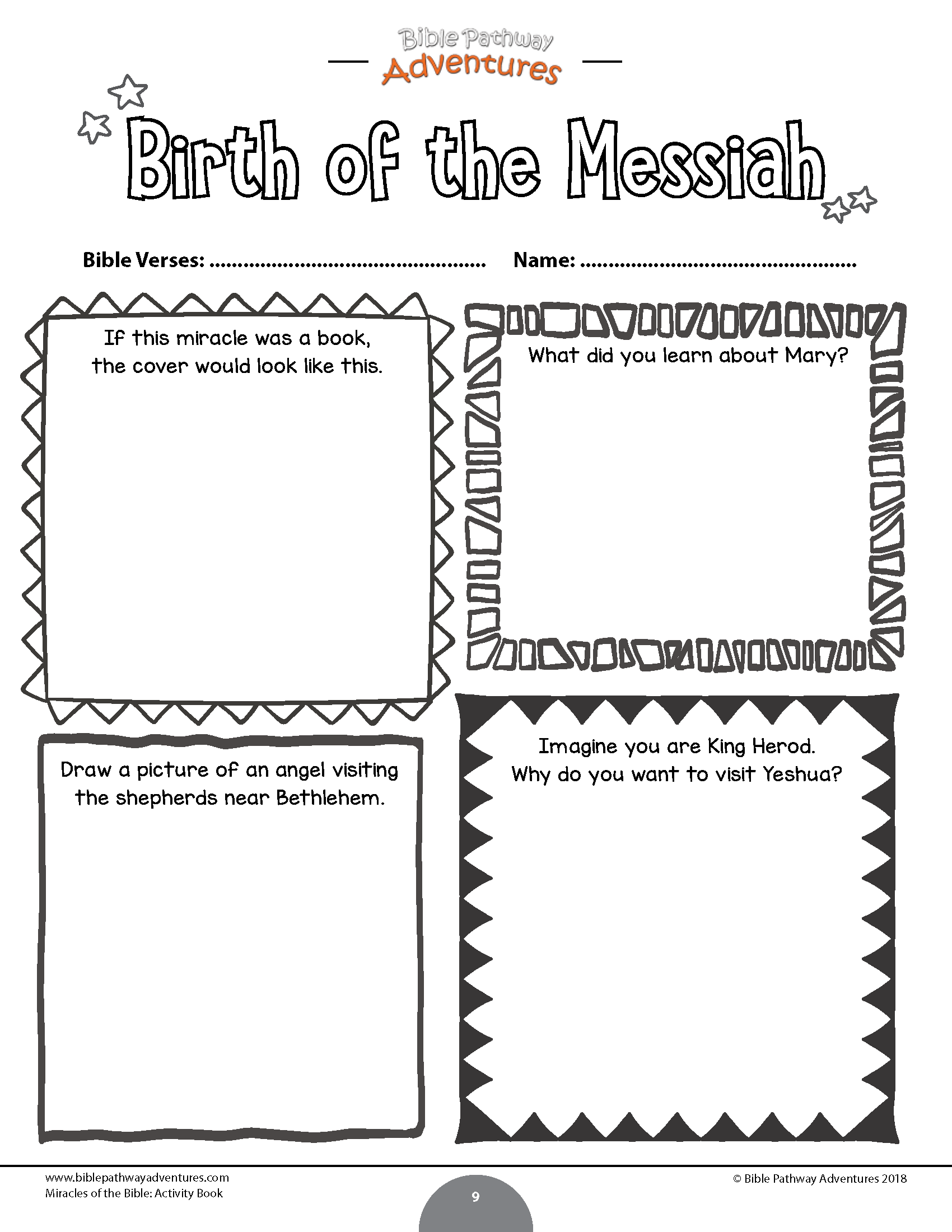 Birth Of The Messiah Worksheet
