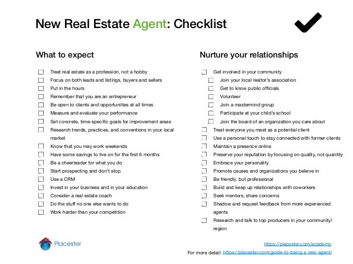 Real Estate Broker Resume Realtor Checklist For Seller  Google Search  Realtor Branding