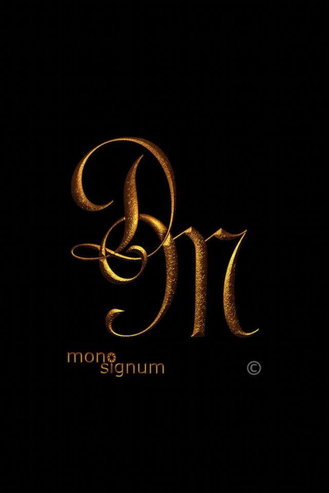 Iphone Wallpaper Dm 02 Monogram Tattoo Lettering Monogram Tattoo D Letter Design