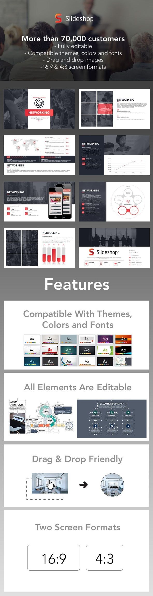 Networking | Template, Presentation templates and Layout design
