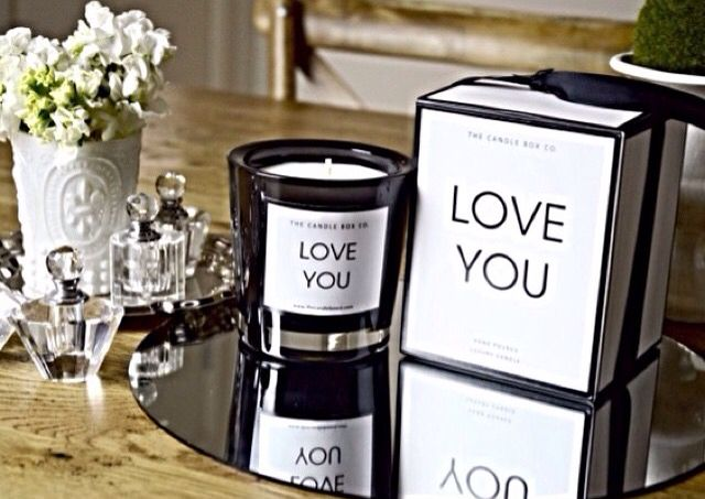 Quote Candle - www.thecandleboxco.com #quotecandle #soycandle #monochrome #loveyou #qotd #luxuryliving #interiordecor #interiordesign #homewares