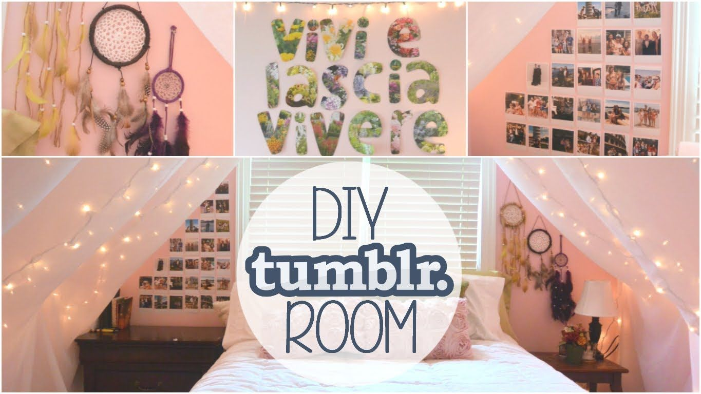 Diy bedroom decorating ideas tumblr - 3 Diy Tumblr Inspired Room Decor Ideas