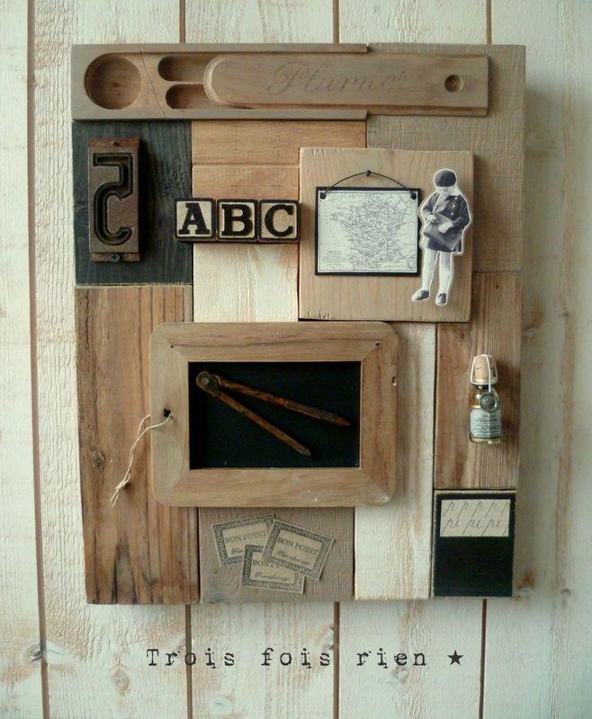 bureau colier cole pinterest art bricolage et atelier. Black Bedroom Furniture Sets. Home Design Ideas
