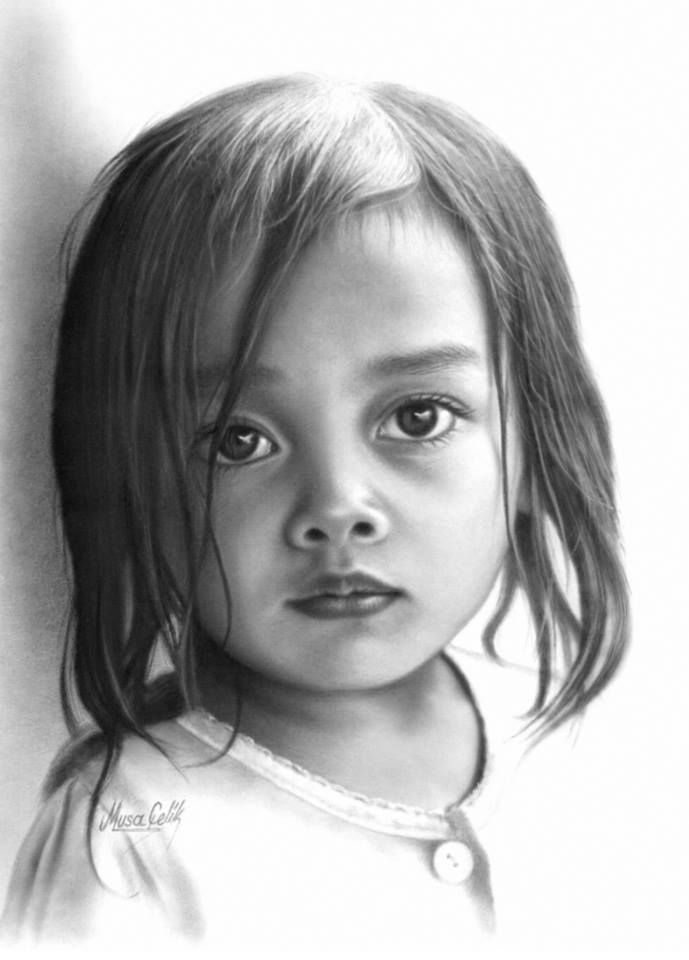 beautiful girl-pencil drawing | Pencil drawings, Color ...