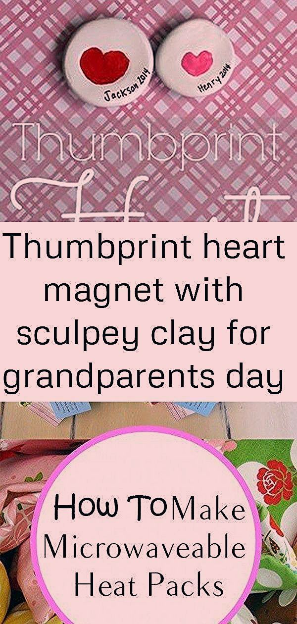 Thumbprint heart magnet with sculpey clay for grandparents day craft. #grandparentsdaycrafts Thumbprint heart magnet with sculpey clay for Grandparents Day craft. DIY Microwaveable Heat Packs These DIY Christmas Candles with essential oils are surprisingly easy and fun to make. Plus they're perfect as a more natural candle and make wonderful homemade gifts! 61+ ideas diy gifts for grandparents from teens simple for 2019 #diy #grandparentsdaygifts Thumbprint heart magnet with sculpey clay for gra #grandparentsdaygifts