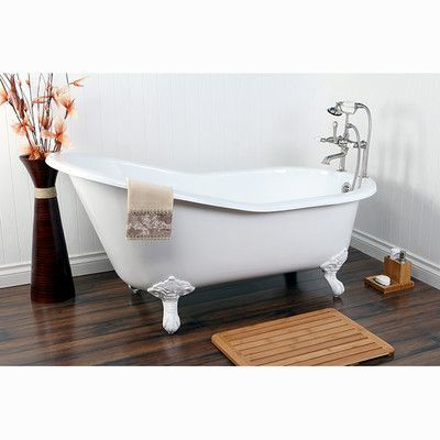 Kingston Brass Aqua Eden Soaking Bathtub Finish White Clawfoot