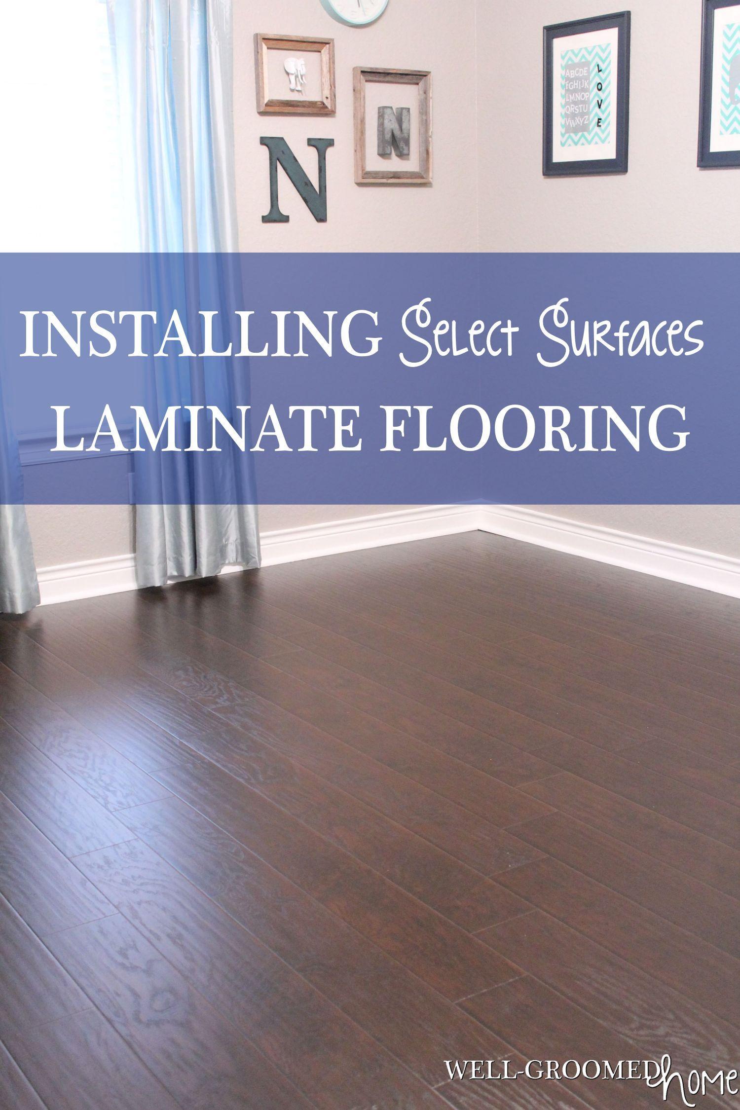 Select Surfaces Laminate Hardwood Flooring Laying
