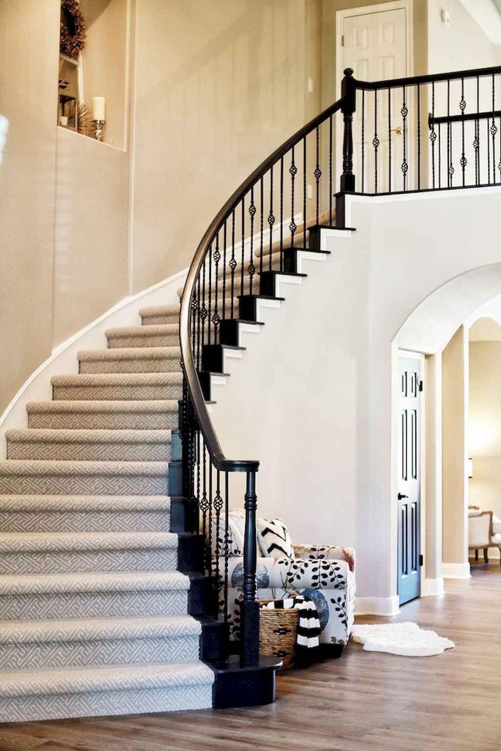 Best 80 Modern Farmhouse Staircase Decor Ideas 32 Staircase 640 x 480