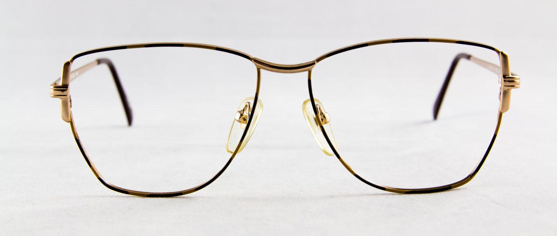 New old stock LAPRIMA eyeglass frame Metal 2 tone Brown color large ...