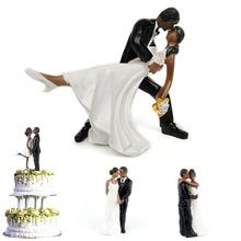 Wedding cake topper romantic black groom bride marry figurine wedding cake topper romantic black groom bride marry figurine wedding decoration couple personalized cake decor supplies junglespirit Choice Image