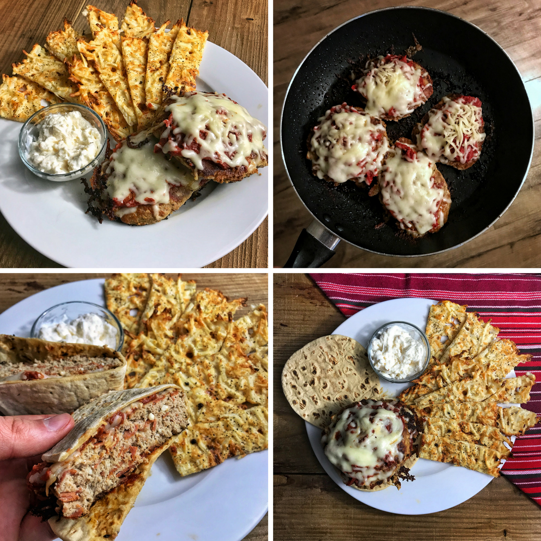 Low Carb Pizza Burgers With High Protein Garlic Parmesan