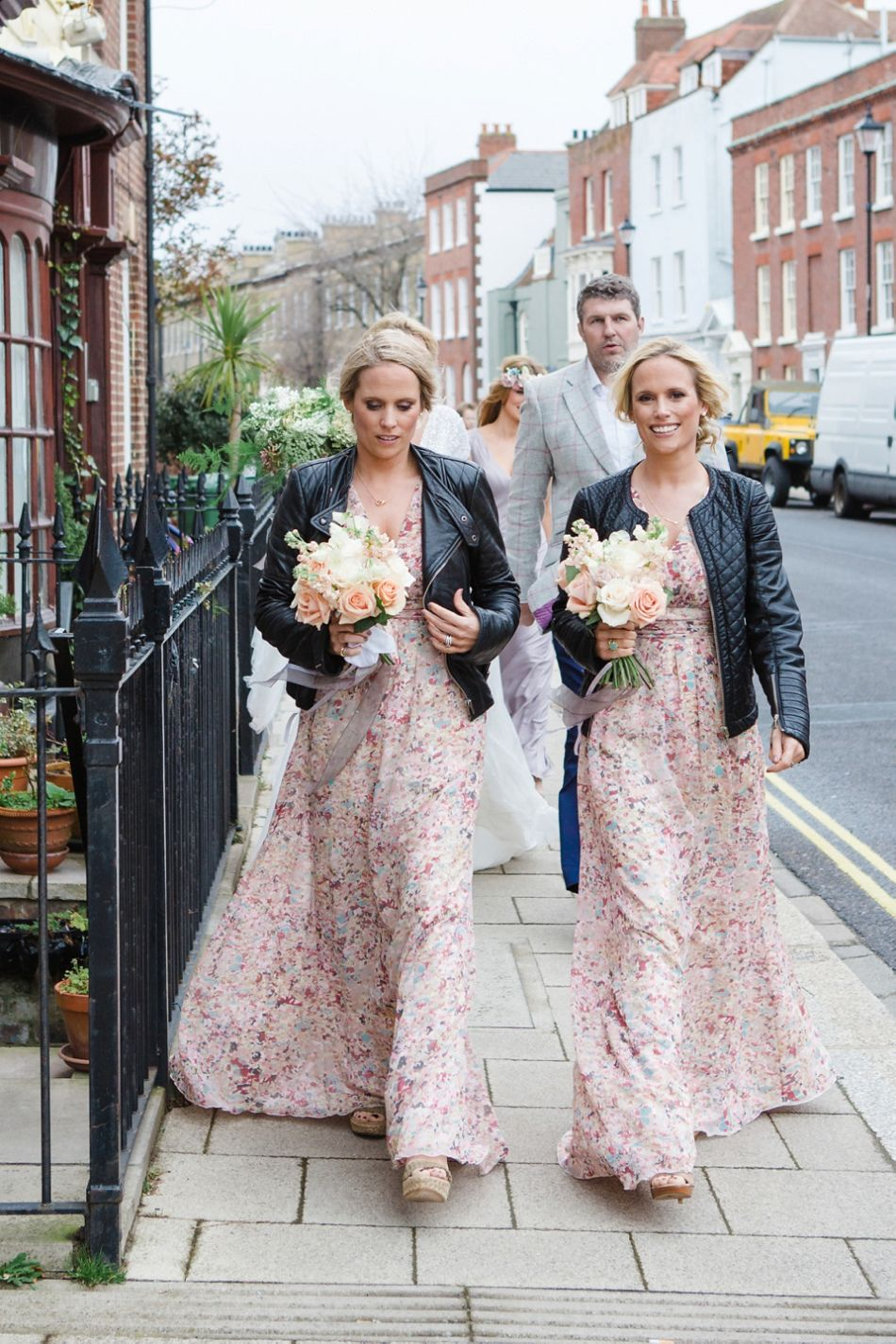13 bridesmaids for a laid back and glamorous british backyard