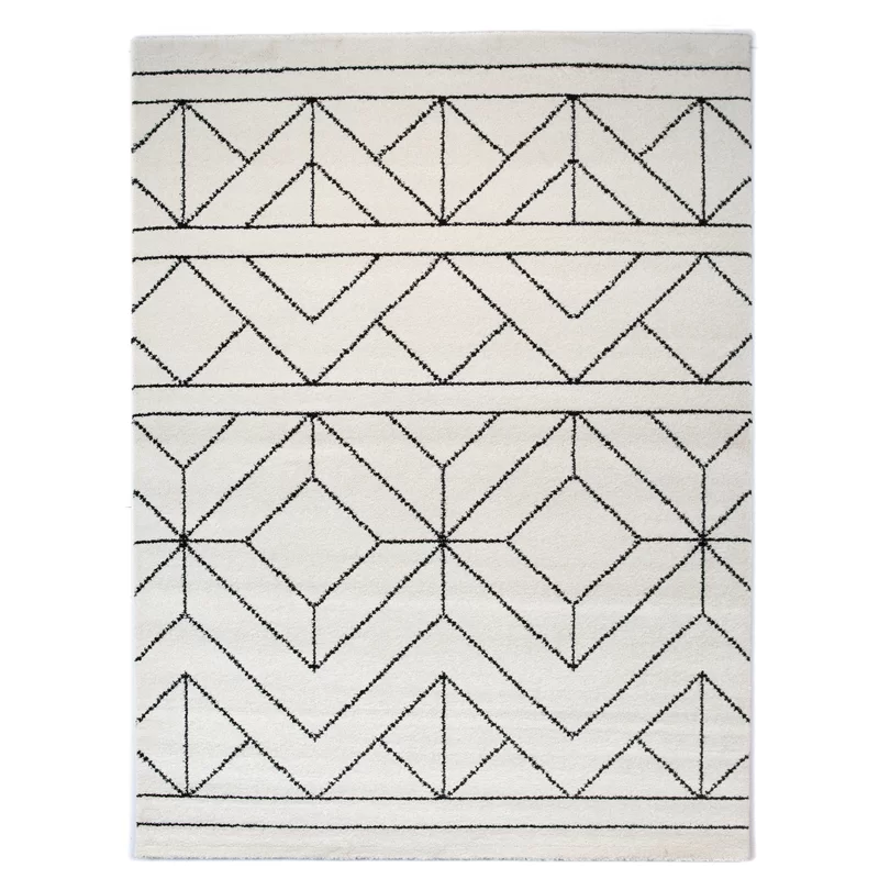 Balta Elle Geometric Cream Area Rug Wayfair Area Rugs Cream Area Rug Rugs