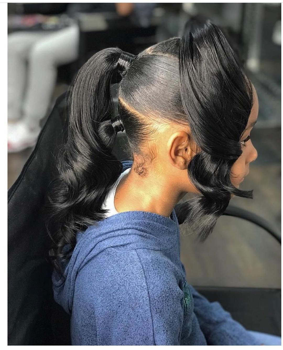 Natural Hair Kids On Instagram Loving This Slick Press N Curl Kids Curly Hairstyles Sleek Ponytail Lil Girl Hairstyles