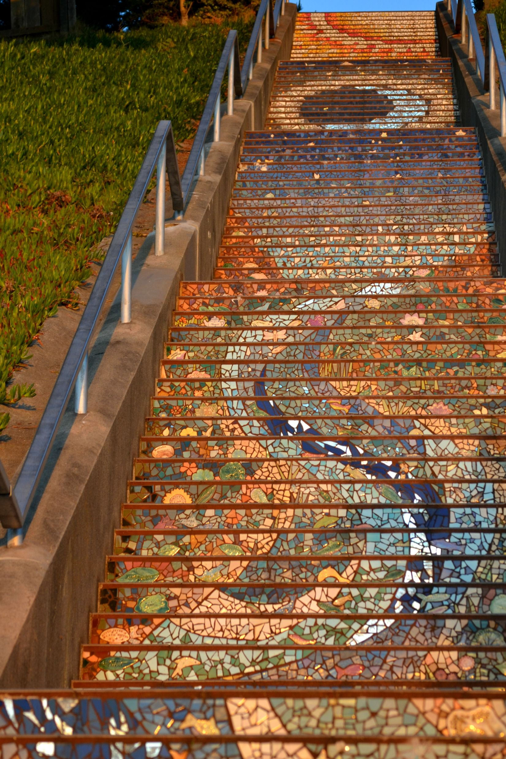 Tiled Stairs San Francisco