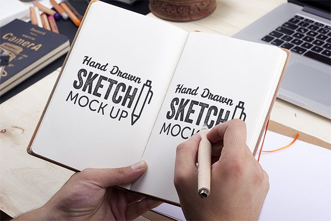 Hand Drawn Sketch Download Free Psd Mockup Com Imagens