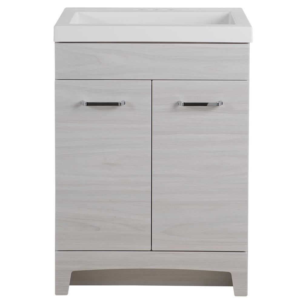 Glacier Bay Stancliff 24 In W X 19 In D Bathroom Vanity In Elm