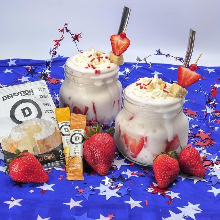 Guilt free strawberry shortcake protein shake recipes