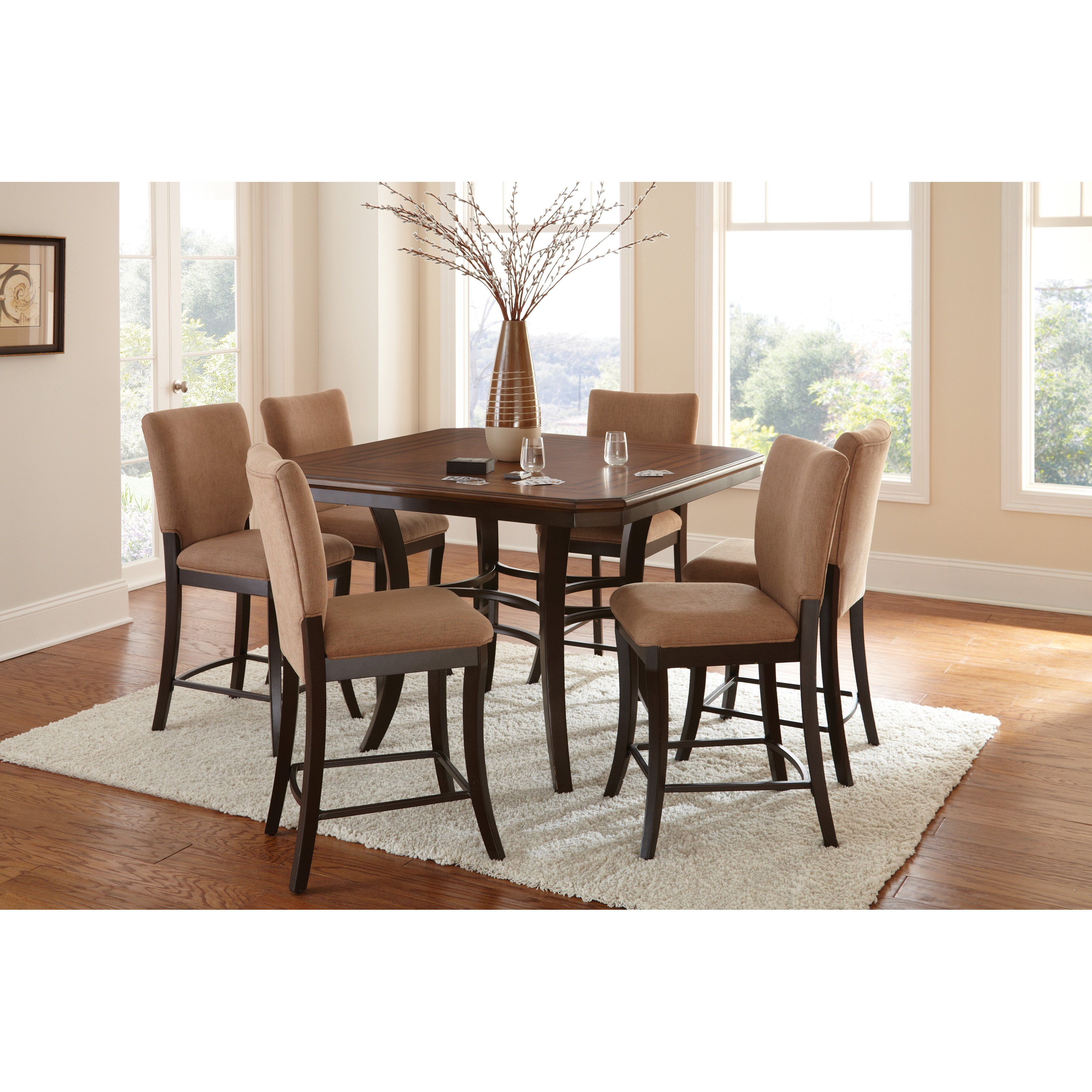 dining standard height of set brilliant sets osmond pc ideas omaha furniture donny kirkwood piece room counter grey