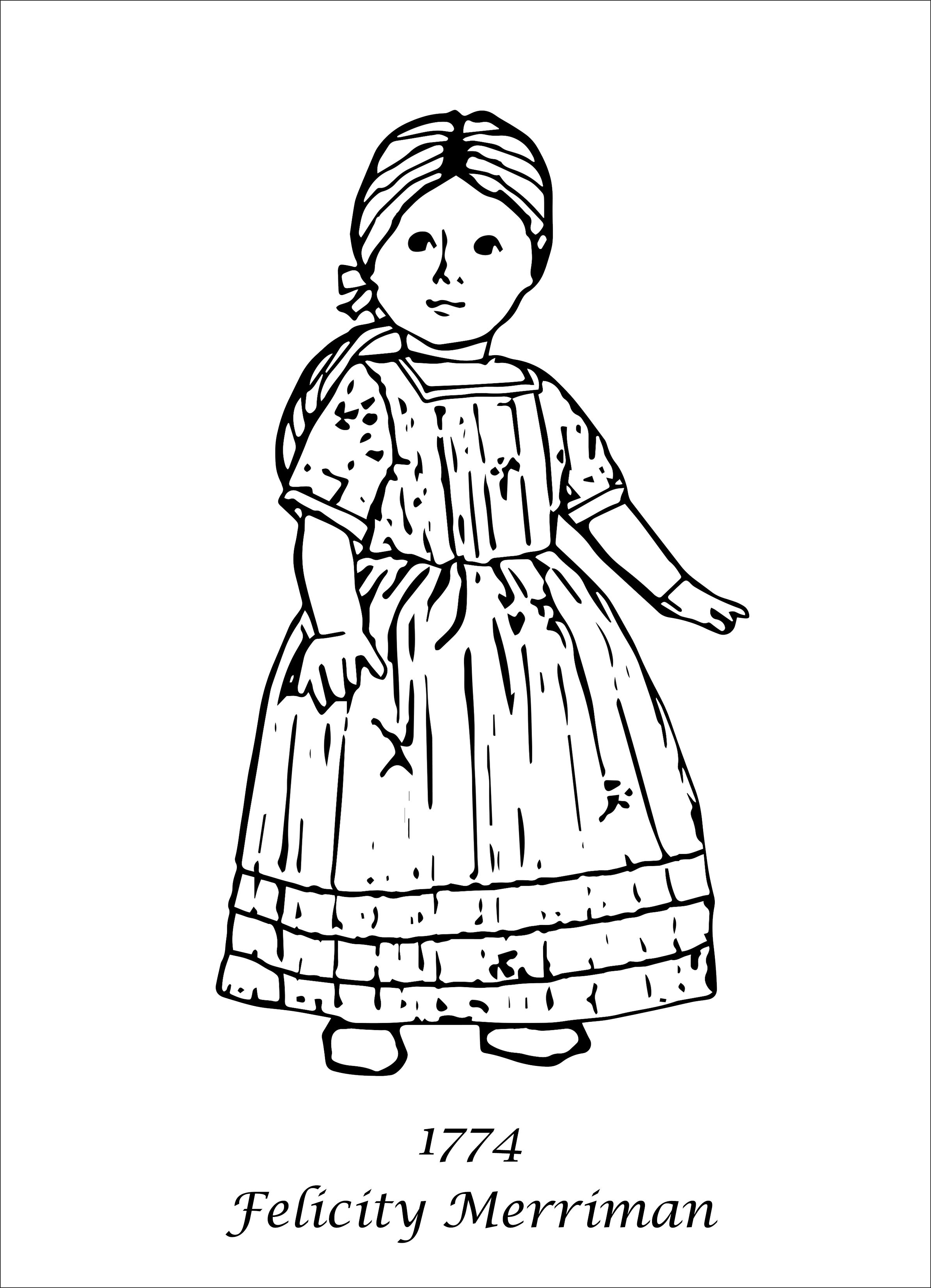 American Girl Felicity Coloring Pages