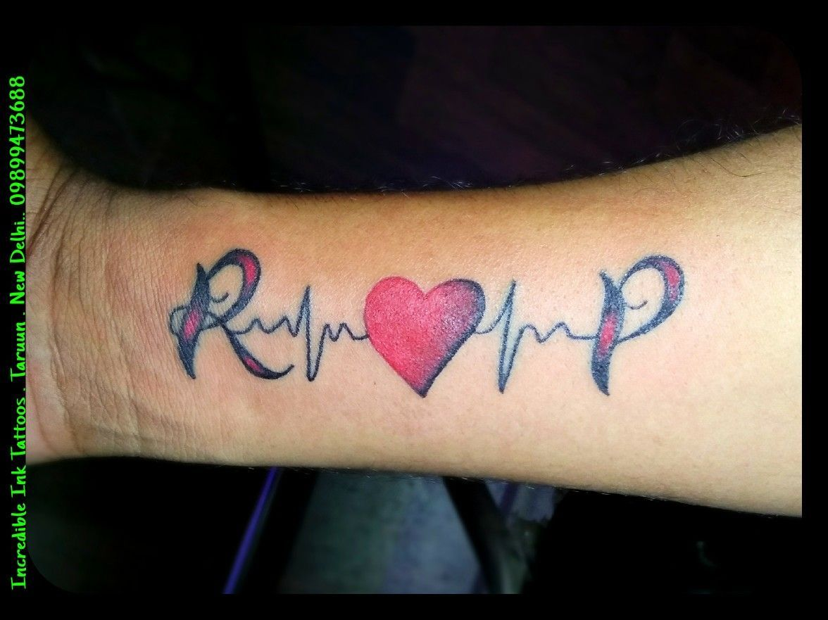 Tattoo Designs For Girls On Hand Heart Beats In 2020 Initial Tattoo Tattoo Lettering Styles Ink Tattoo