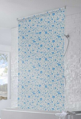 PEVA Shower Curtain Shower Roller Blind With Waterproof - Waterproof roller blind for bathroom
