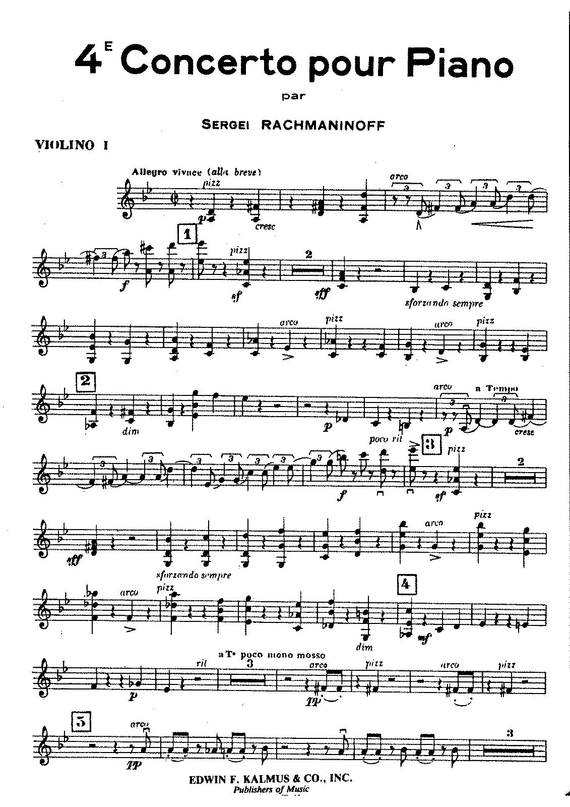 Rachmaninoff Piano Concerto No 4 In G Op 40 Rachmaninoff Piano Classical Music