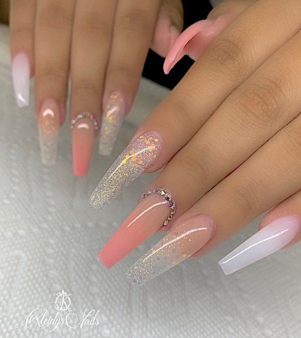 50+ The Most Popular Nail Design for Coffin Nails #coffinnails