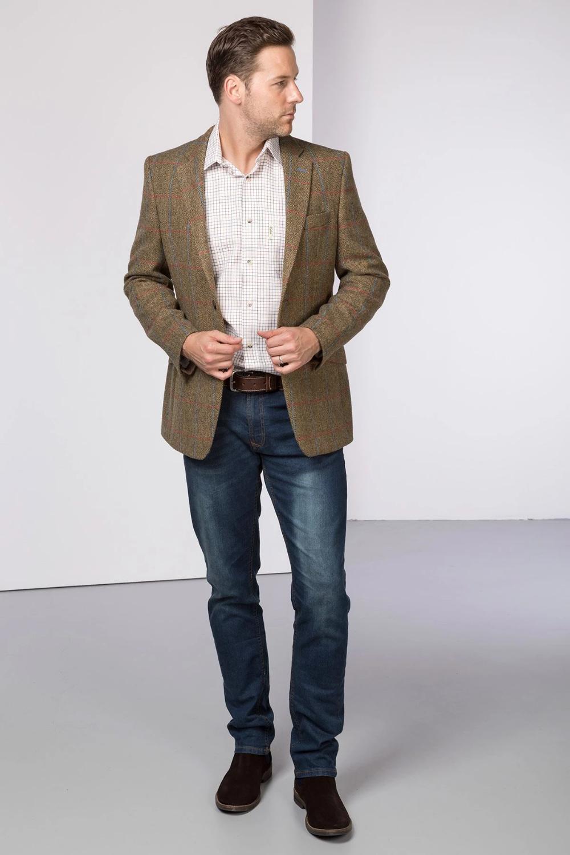 Men S Fitted Tweed Blazer Thirsk Herringbone Tweed Jacket Fitted Tweed Jacket Tweed Jacket