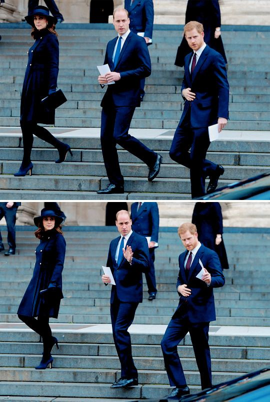 "rachelmarkle: """"The Duke of Cambridge, the Duchess of Cambridge, and Prince Harry leaving the Grenfell Tower memorial service today, December 14th 2017 "" """