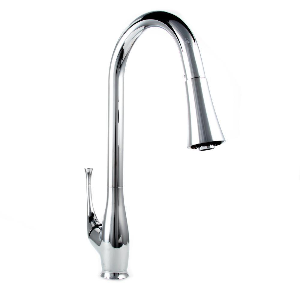 Zline Kitchen And Bath Castor Single Handle Pull Down Sprayer Kitchen Faucet In Chrome Finish Faucet Kitchen Bath Chrome Finish