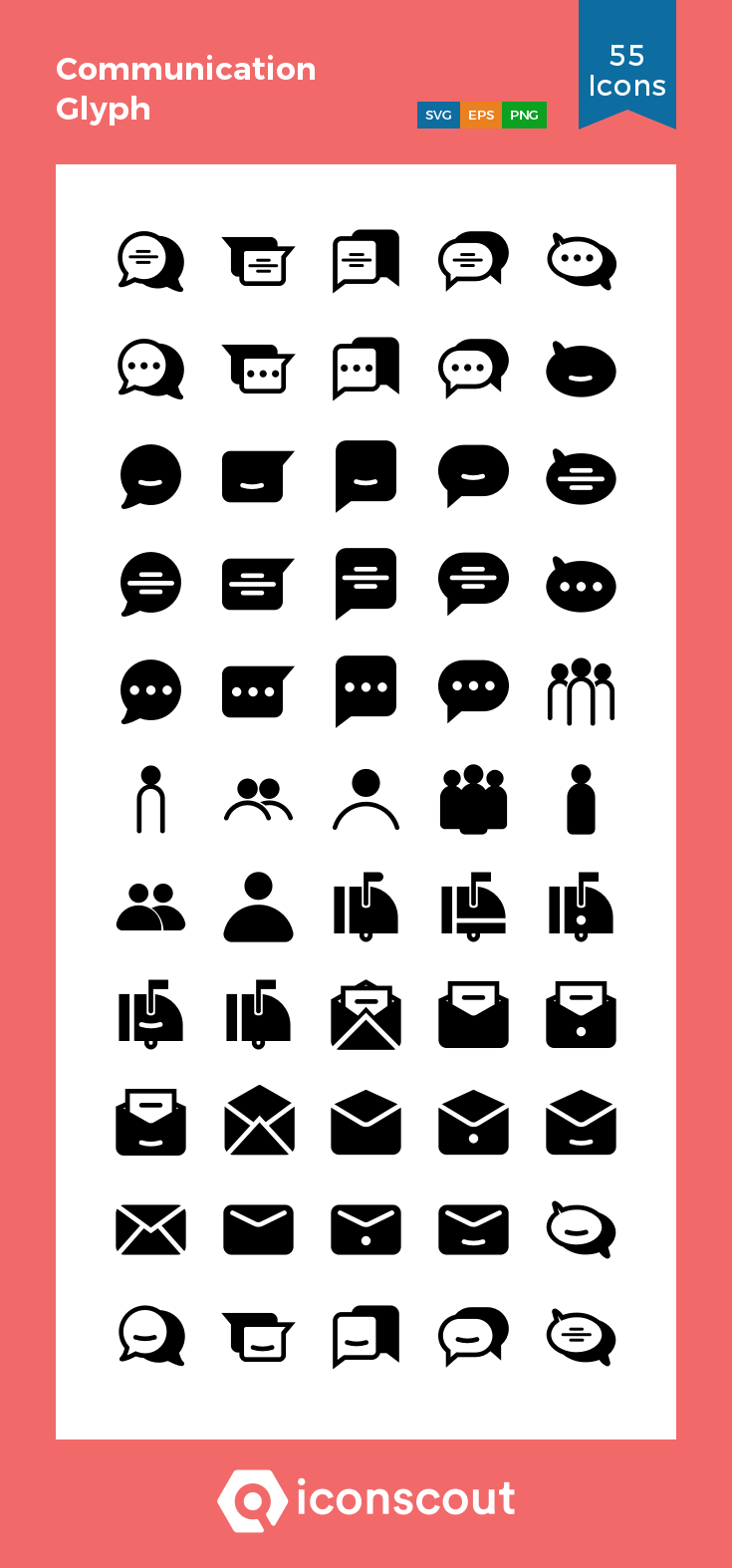 Download Communication Glyph Icon Pack Available In Svg Png Eps Ai Icon Fonts Communication Icon Icon Pack Icon