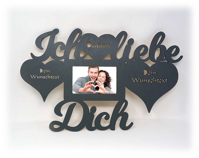 Ich liebe dich Geschenke für Männer mit Name und Texte Gravur Wand ...