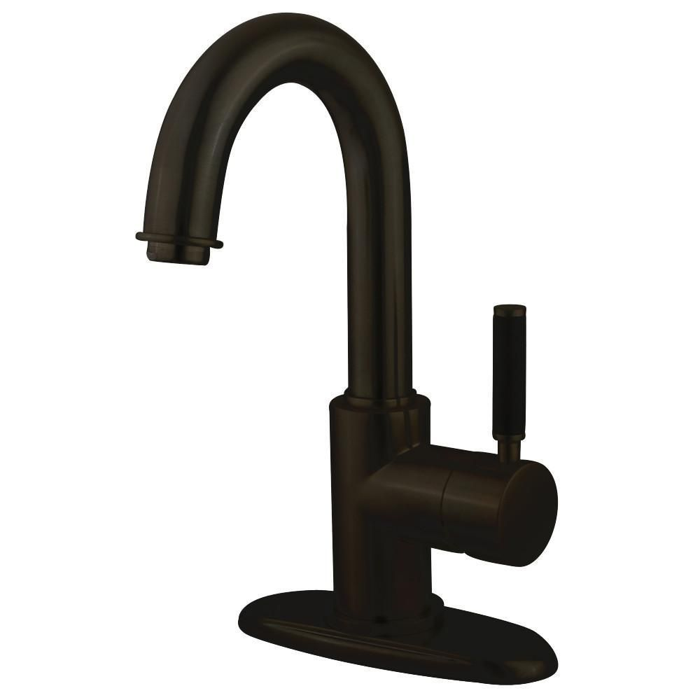Kaiser Oil Rubbed Bronze Single Handle Bathroom Faucet w/Push-up ...