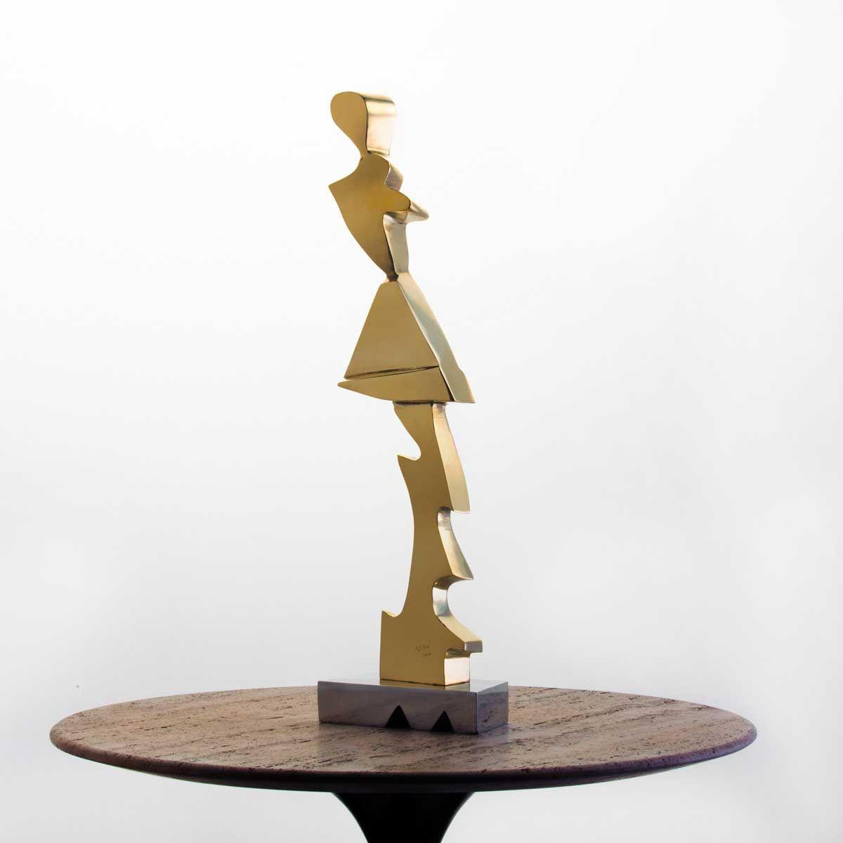 Escultura Mulher Futurista Bronze  | iBacana
