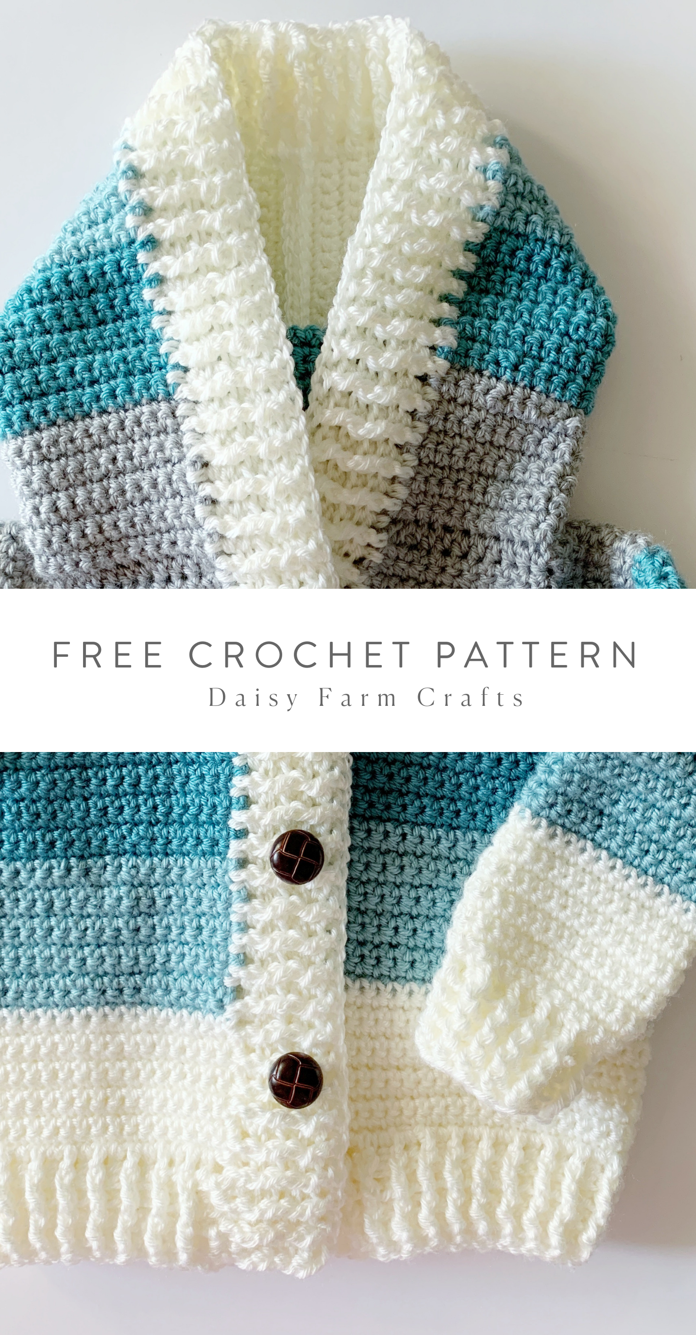 Free Crochet Pattern - Four Color Baby Sweater